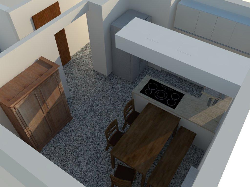 3D-Visualisierung einer Küche